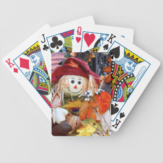 Thanksgiving Rag Doll Amongst Autumn Harvest Scene Bicycle Playing Cards