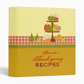 Thanksgiving Recipe Binder