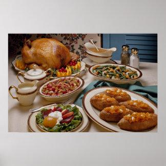 Thanksgiving roast turkey dinner poster