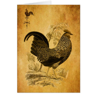 Thanksgiving Rooster Card