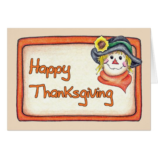 Thanksgiving Scarecrow Card