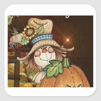 """THANKSGIVING SCARECROW STICKERS WITH FRIENDS"