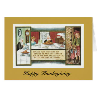 Thanksgiving: Scottish Selkirk Grace Robert Burns Greeting Card