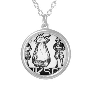 thanksgiving silver plated necklace
