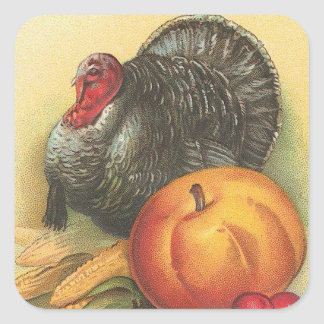 Thanksgiving Square Sticker