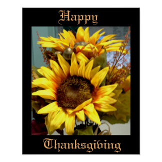 THANKSGIVING SUNFLOWERS poster