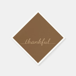 Thanksgiving Thankful paper napkins