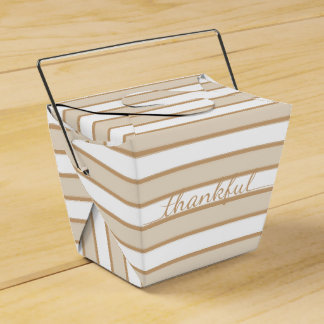 Thanksgiving Thankful stripe takeout container box Favor Box