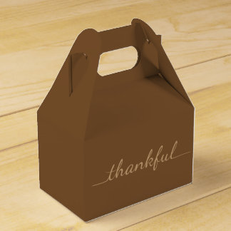 Thanksgiving Thankful takeout container box Wedding Favor Boxes