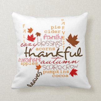 Thanksgiving Throw Pillow/Typography Throw Pillow