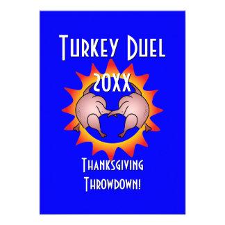 Thanksgiving Throwdown Turkey Duel Commemorative Custom Announcements
