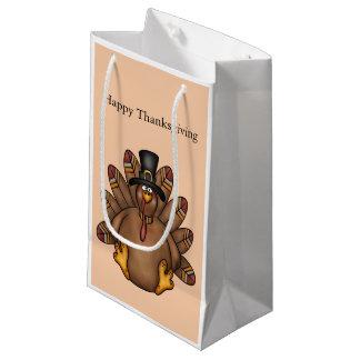 Thanksgiving Tom Turkey Holiday Small Gift Bag