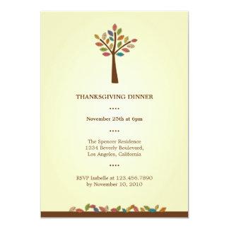 Thanksgiving Tree Dinner Party Invitation
