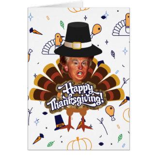 """thanksgiving trump turkey card"