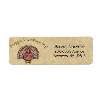 Thanksgiving Turkey Address Label