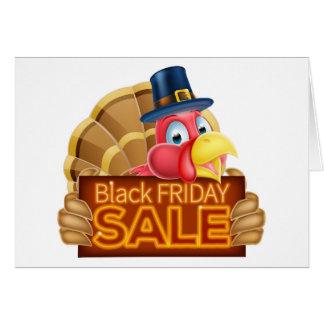 Thanksgiving Turkey Black Friday Sale Sign Card