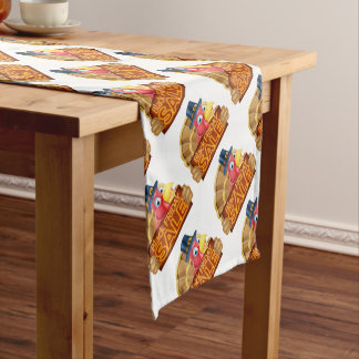Thanksgiving Turkey Black Friday Sale Sign Short Table Runner