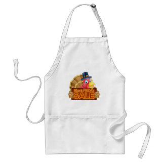 Thanksgiving Turkey Black Friday Sale Sign Standard Apron