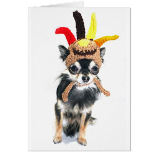Thanksgiving Turkey Chihuahua Card