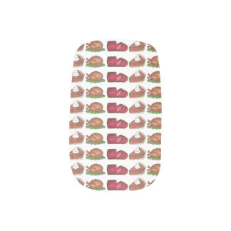 Thanksgiving Turkey Cranberry Pumpkin Pie Foodie Minx Nail Art