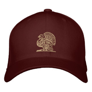 Thanksgiving Turkey Embroidered Hat
