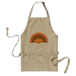 Thanksgiving Turkey Football Apron