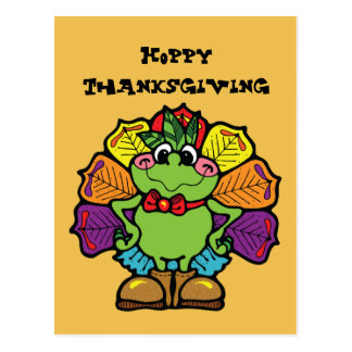 Thanksgiving Turkey Frog Postcard