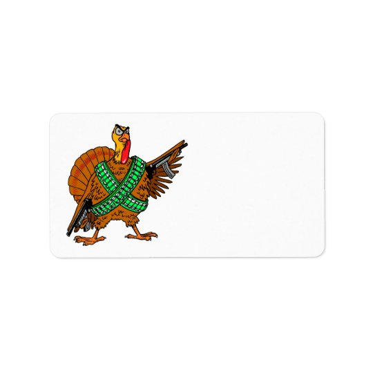 Thanksgiving Turkey Funny Address Stickers