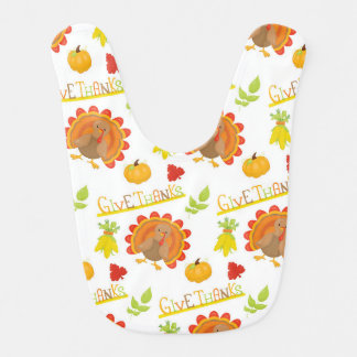 Thanksgiving Turkey Give Thanks Bib