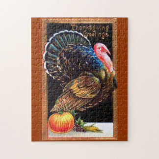 Thanksgiving Turkey Greetings Puzzle
