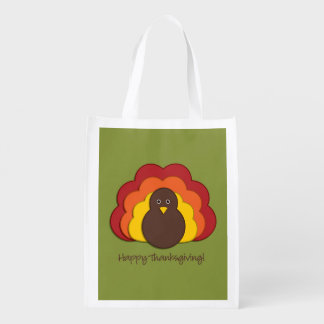Thanksgiving turkey grocery bags