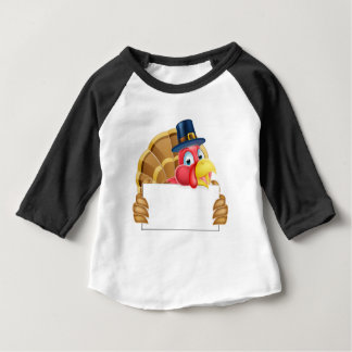 Thanksgiving Turkey Holding a Sign Baby T-Shirt
