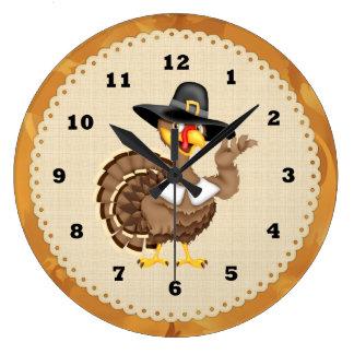 Thanksgiving Turkey Holiday Clock