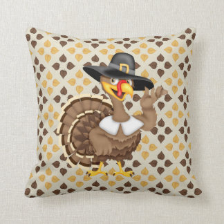 Thanksgiving Turkey Holiday throw pillow