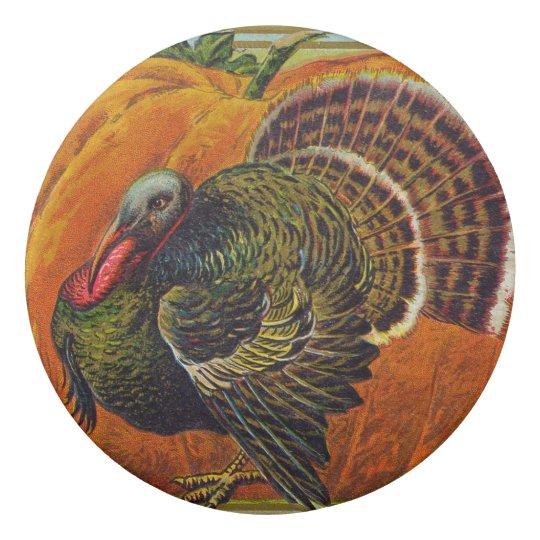 Thanksgiving Turkey in front of a Orange Pumpkin Eraser