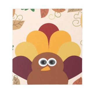 Thanksgiving Turkey Notepad