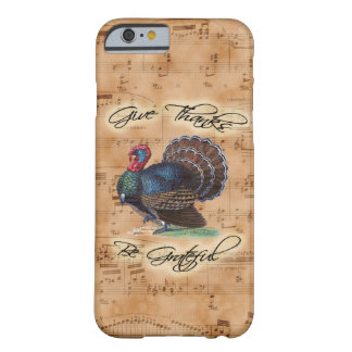 Thanksgiving Turkey on Vintage Music Sheet Barely There iPhone 6 Case