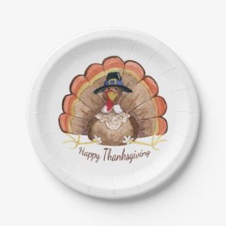 Thanksgiving Turkey Paper Plate