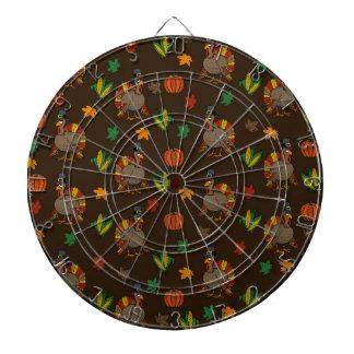 Thanksgiving Turkey pattern Dartboard