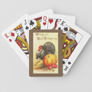 Thanksgiving Turkey Playing Cards