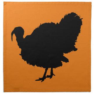 Thanksgiving Turkey Silhouette Napkin