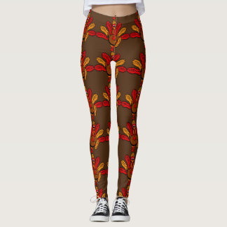 Thanksgiving Turkey Sole Run T-Shirt Leggings