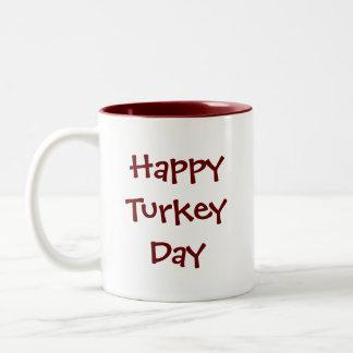 Thanksgiving Turkey Two-Tone Coffee Mug