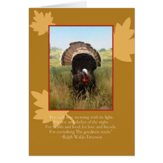 Thanksgiving Turkey with Verse Greeting Card
