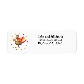 Thanksgiving Turquie de bébé Étiquette D'adresse Retour