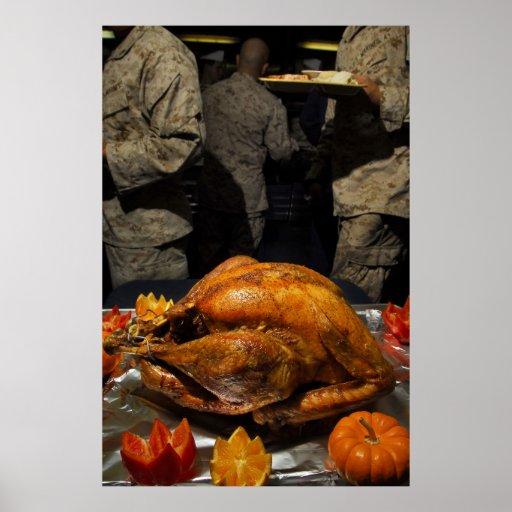 Thanksgiving Turquie pour des soldats de