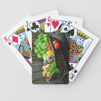 Thanksgiving Vegetable Harvest in a Basket Bicycle Playing Cards