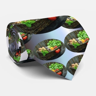 Thanksgiving Vegetable Harvest in a Basket Tie