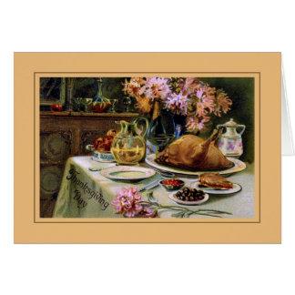 Thanksgiving vintage cartes