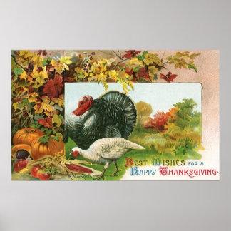 Thanksgiving vintage, couleurs sauvages d'automne